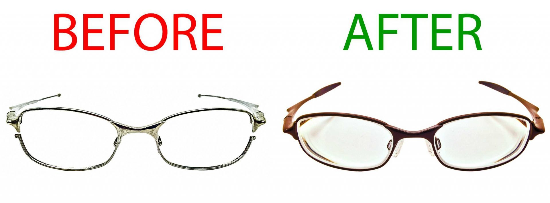 Spectacles Repaint, examples before and after