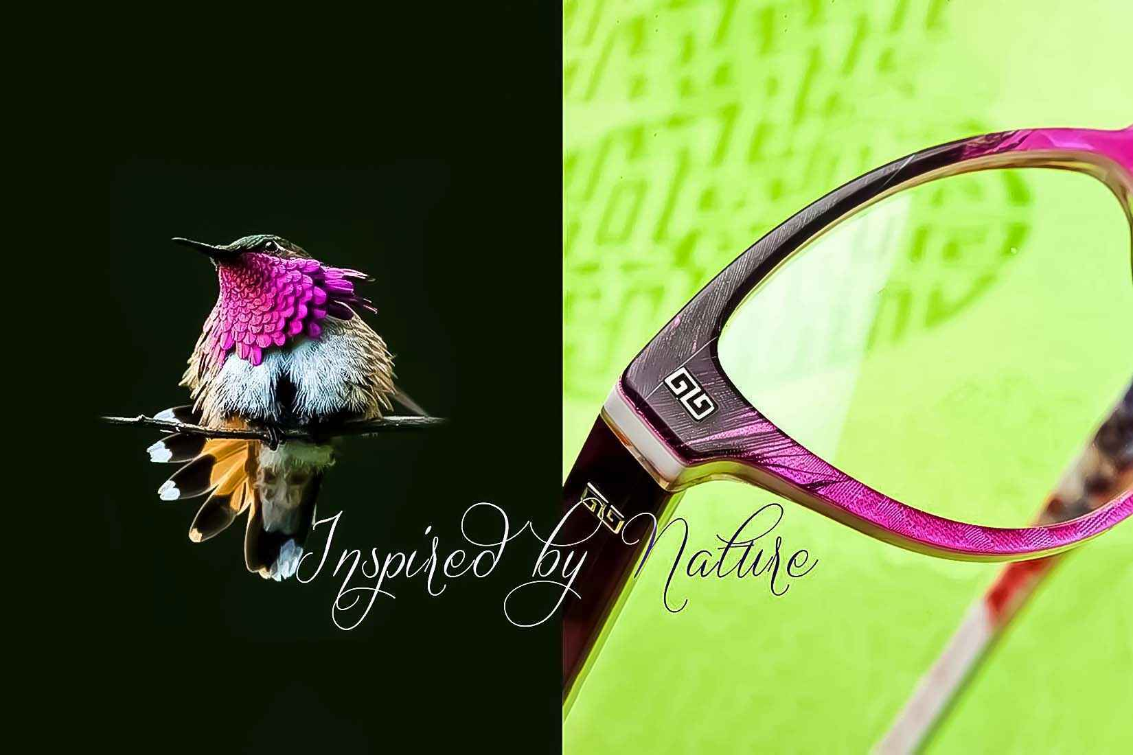 Coco Song spectacles: real feathers