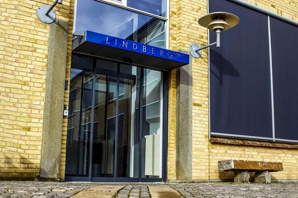 The entrance of Lindberg headquarters in Aarhus, Denmark
