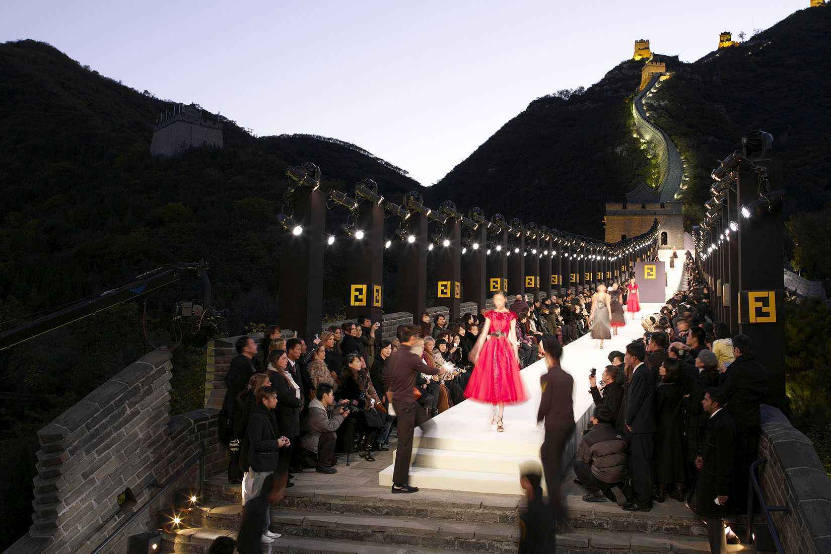 Fendi fashion show at Great Wall