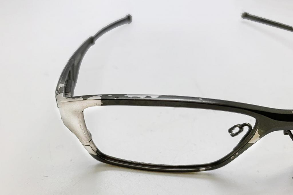 A pair of Oakley spectacles that need restoration