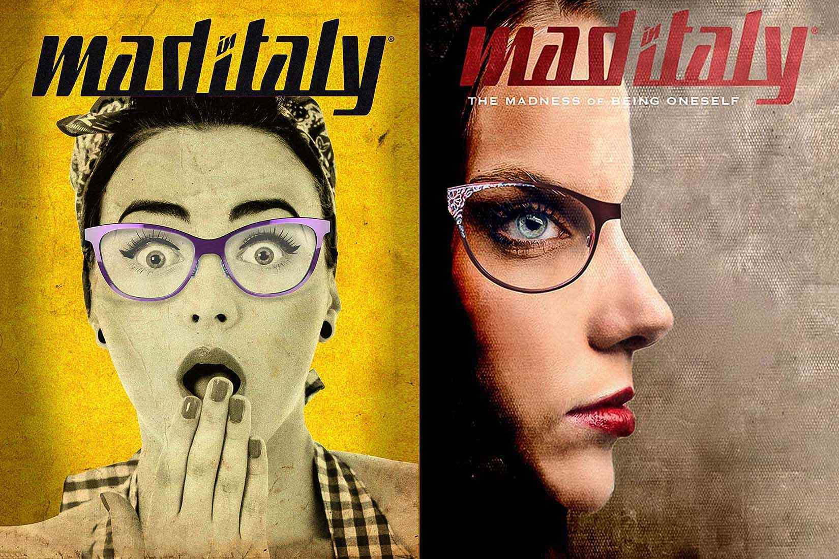 Mad-In-Italy spectacles: poster faces