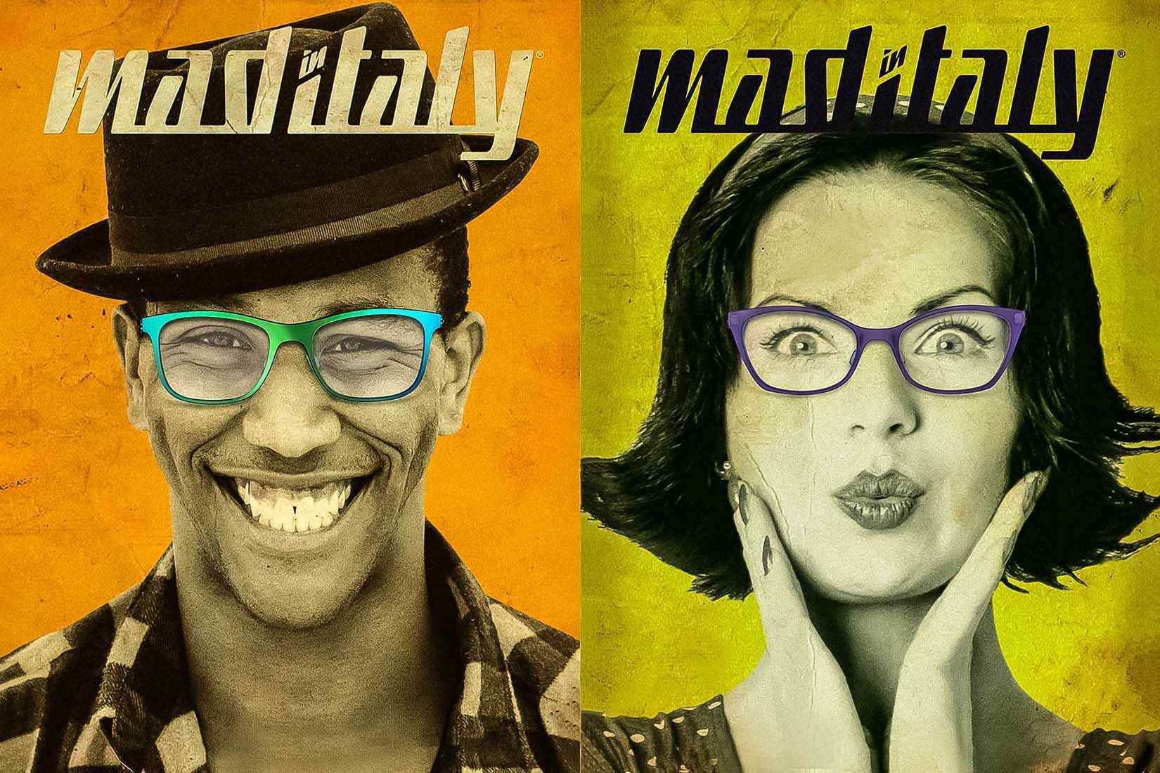 Mad-In-Italy spectacles: faces