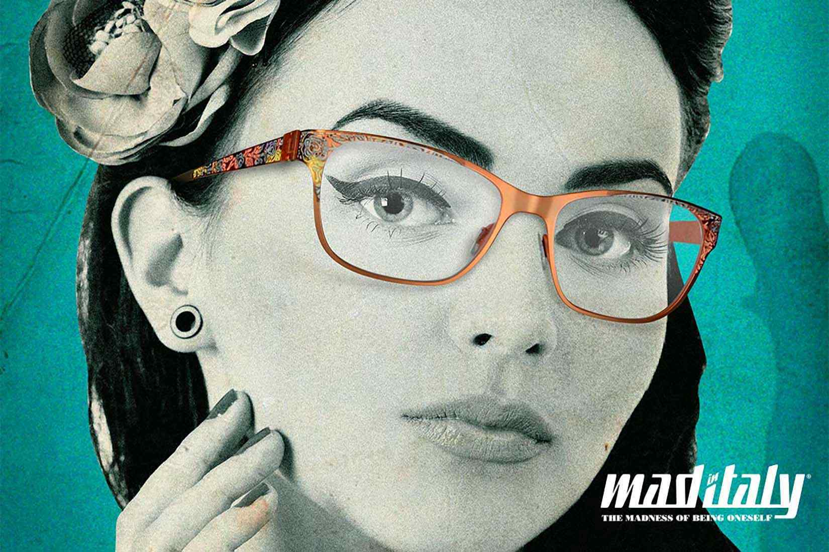 Mad-In-Italy spectacles: poster face