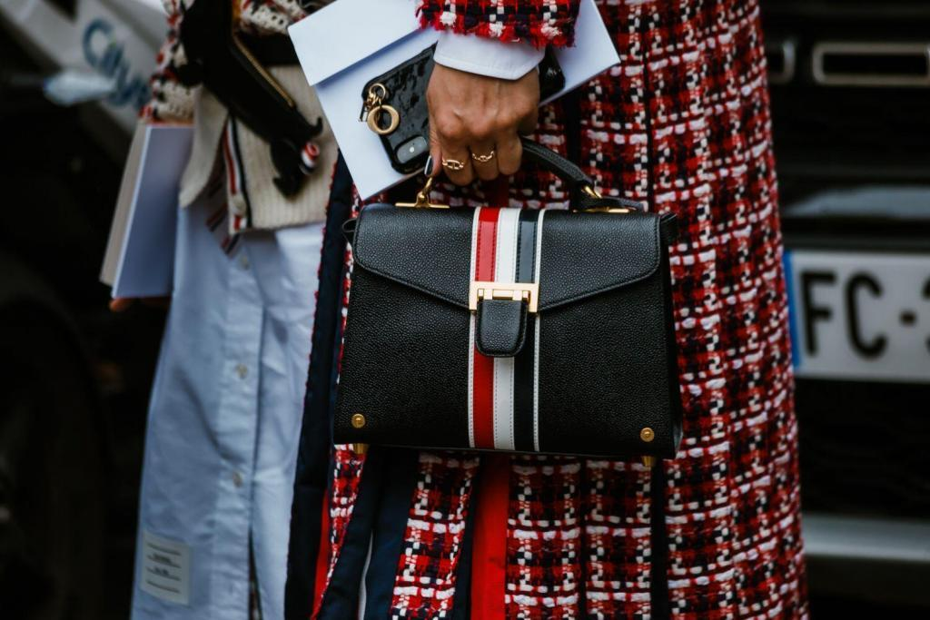 Thom Browne signature tricolour of red, white, and blue