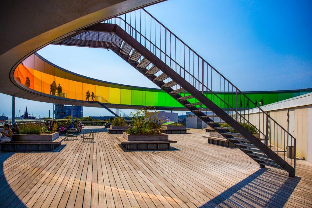 Aarhus Museum's Rainbow Pavilion in Denmark, sample of modern Danish design