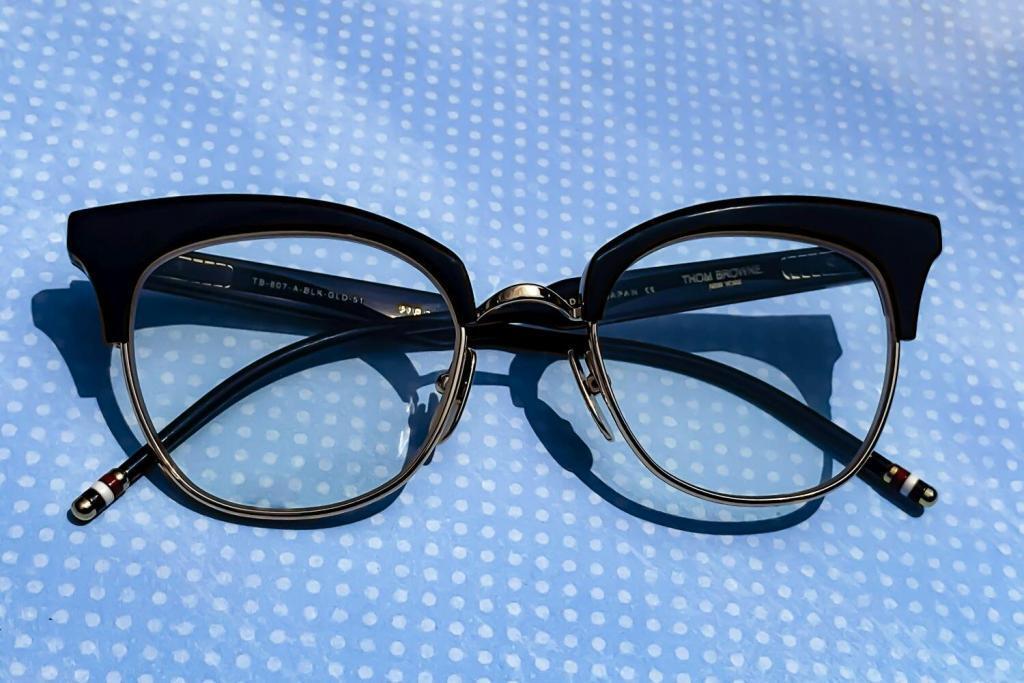 Thom Browne eyewear with its nostalgia designs